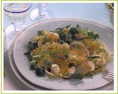 Recette salade de champignons de paris au haddock