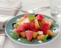 Recette melon-pastèque à la feta