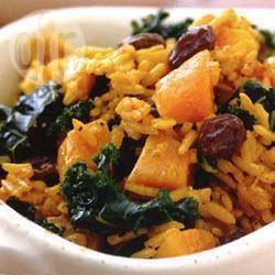 Recette riz basmati, chou frisé et courge butternut – toutes les ...