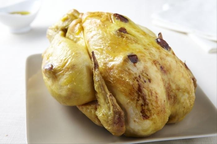 Recette de poulet jaune rôti aux marrons facile et rapide