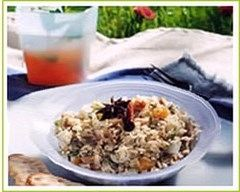 Recette salade de féta et fruits secs aux deux riz