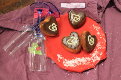 Recette de coeurs de saint-valentin chocolat-coco