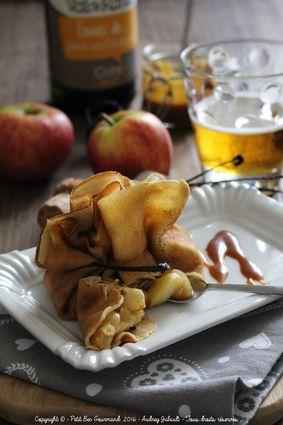 Recette aumônières aux pommes et cidre