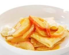 Recette crêpes caramélisées aux pommes