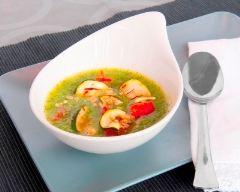 Recette soupe aux courgettes et tomates confites