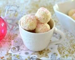 Recette boules de noël à la coco et à la vanille