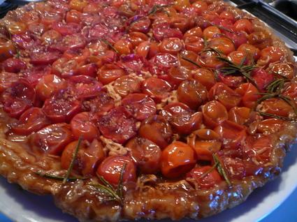 Recette de tarte tatin de tomates cerises