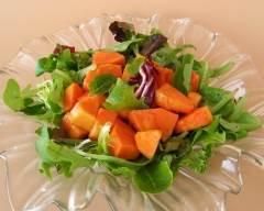 Recette salade de papaye et mesclun