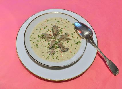 Recette de velouté de fenouil, huîtres pochées dans leur eau