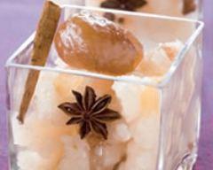 Recette granité de poires aux marrons glacés