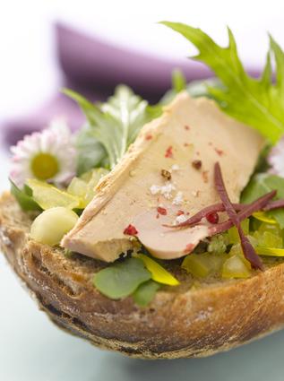 Recette de la tartine de foie gras aux paquerettes mignonettes