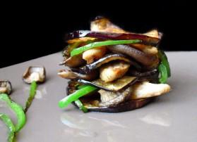 Millefeuille croustillant d'aubergine, champignons et belle pour 2 ...