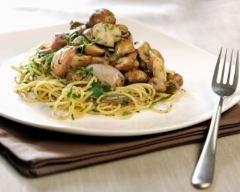 Recette spaghettis aux champignons