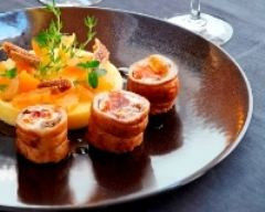 Recette mignon de lapin farci au cidre et serpolet, et polenta aux ...