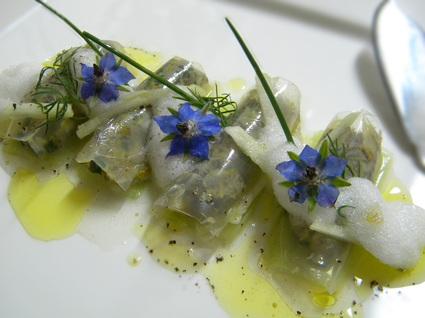 Recette de tartare d'huitre aux agrumes, fin cannellonis de gelée d ...