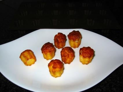 Recette de mini cannelés au jambon fromage