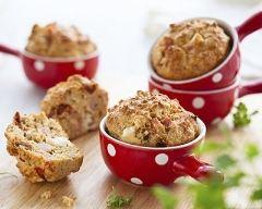 Recette muffins aux lardons, chèvre et thym