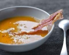 Recette crème de butternut et jambon de bayonne
