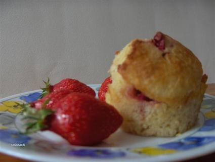 Recette muffins à la fraise (muffin dessert)