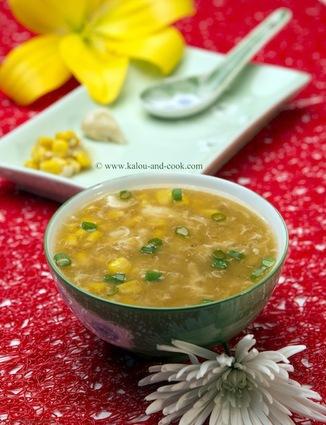 Recette de soupe de maïs au crabe