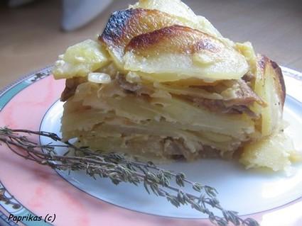 Recette de gâteau de pommes de terre aux cèpes