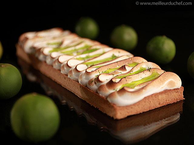 Tarte au citron vert meringuée  notre recette avec photos ...