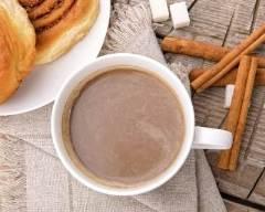 Recette chocolat chaud à la cannelle et au sucre roux