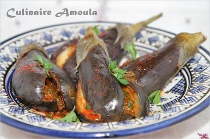 Recette aubergines marinées à la marocaine