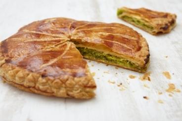 Recette de pithiviers pistache-griotte