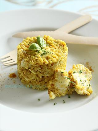 Recette de risotto de boulghour au poulet et au curry
