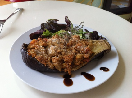Recette aubergine farcie au thon