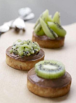 Recette de tarte kiwi et sa mousse au chocolat