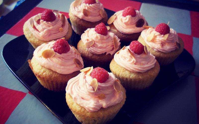Recette cupcakes framboise/amande pas chère et facile > cuisine ...