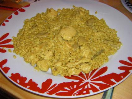Recette de pilaf de blé au poulet