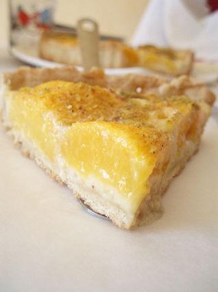Recette de tarte aux pêches, crème d'amande