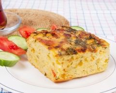 Recette cake aux crevettes, fromage et légumes