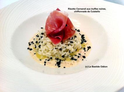 Recette de risotto carnaroli aux truffes noires, chiffonnade de ...