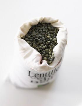 Galettes de lentilles vertes aux petits légumes