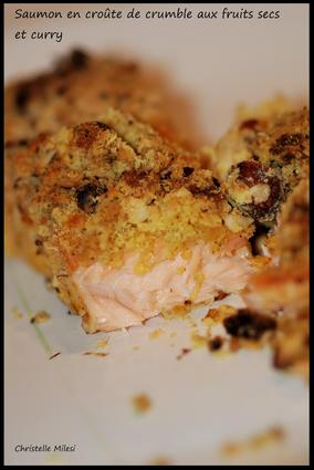 Recette de saumon en croûte de crumble aux fruits secs