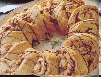 Recette de couronne au chocolat et à l'abricot