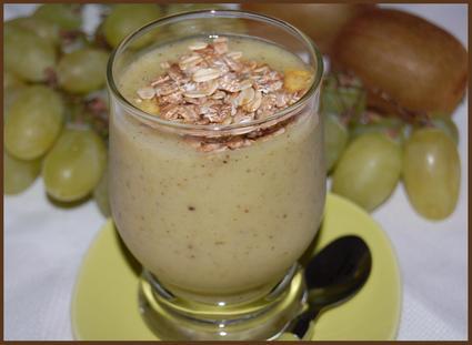 Recette de smoothie raisins-kiwis