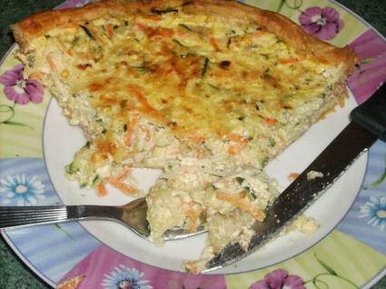 Recette de tarte aux légumes et crème fraîche