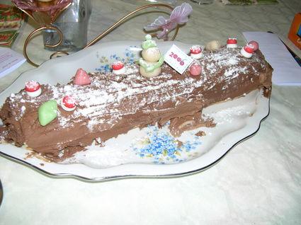 Recette de bûche de noël à la crème au chocolat