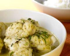 Recette sauté de lotte au curry vert