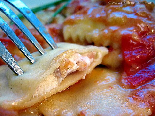 Raviolis au jambon et parmesan  fiche recette illustrée ...