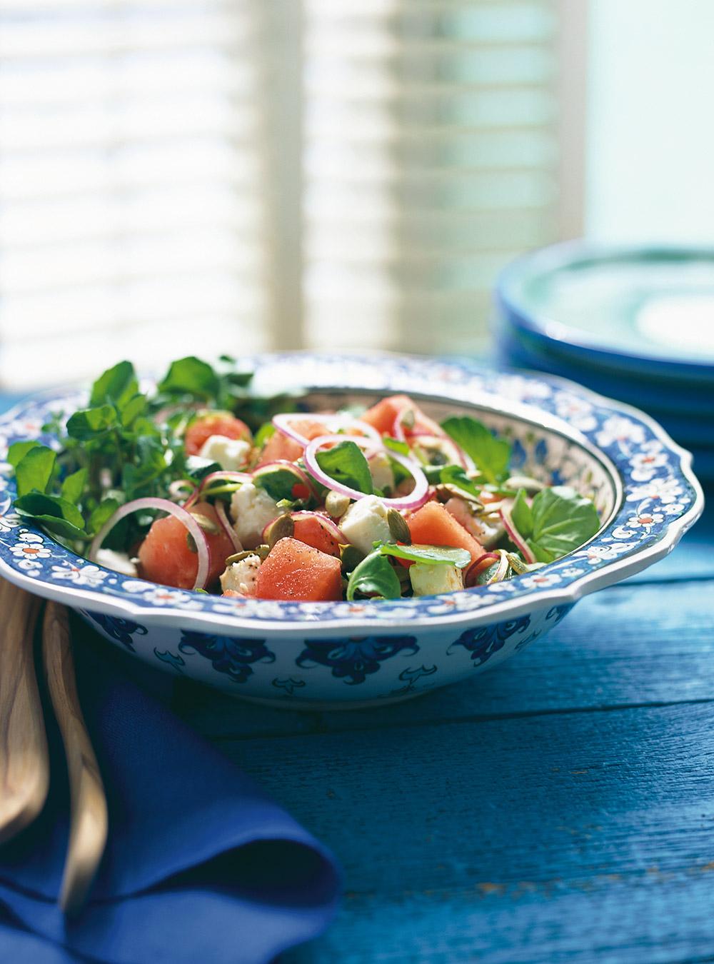Salade de melon d'eau et de féta | ricardo