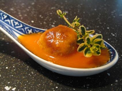 Recette de soupe tomate boulettes