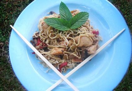 Recette de nouilles chinoises faciles au poulet