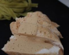 Recette suprême de blanc de poulet sauce foie gras