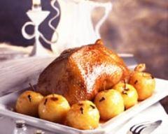 Recette oie rôtie aux pommes